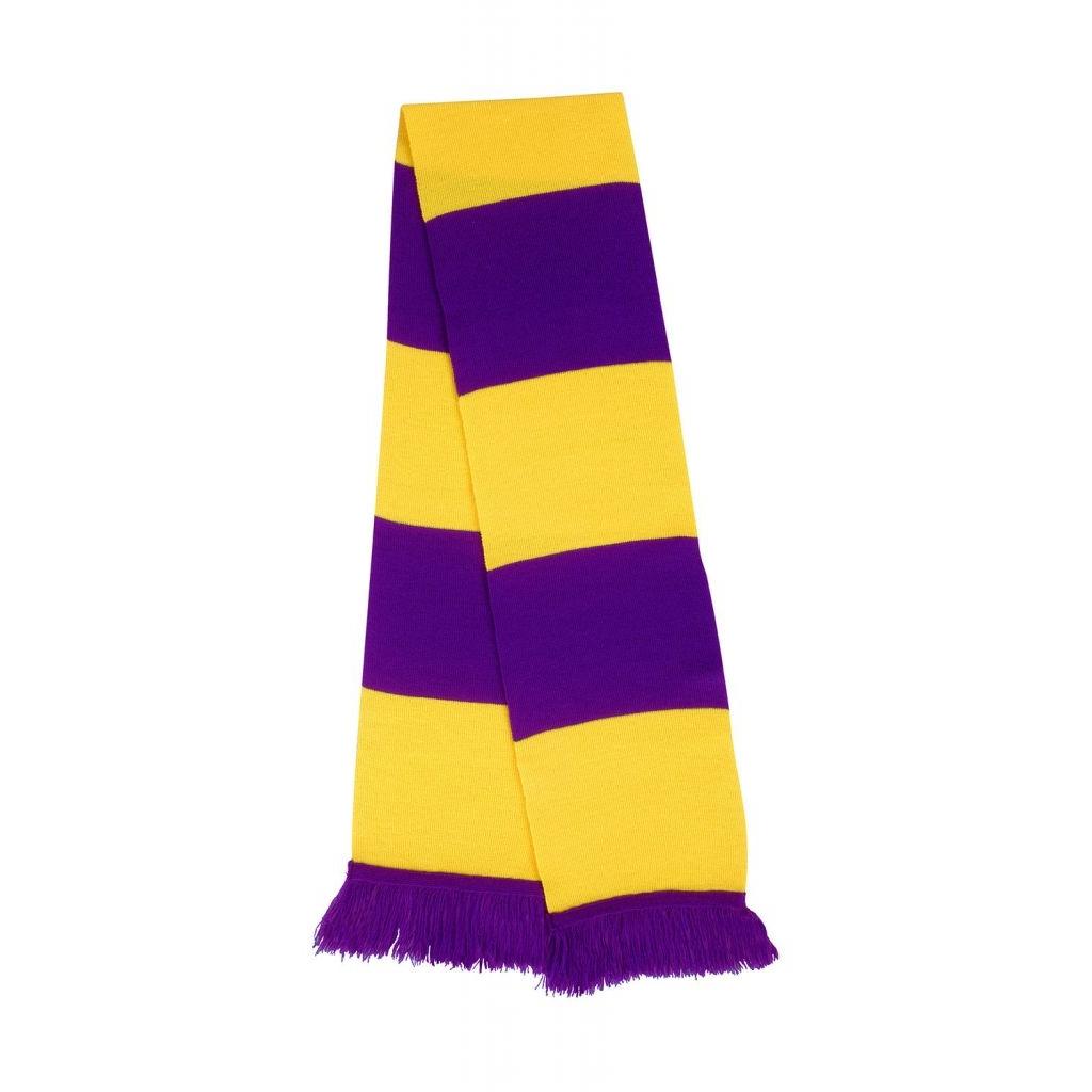 Šála Result Sport - fialová-žlutá