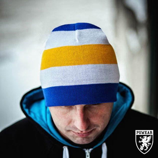 Čepice zimní PGwear Winter 16 - modrá-žlutá-bílá