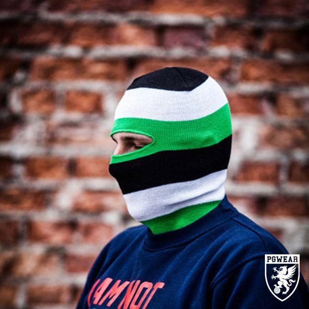 Kukla PGwear Balaclava Classic 31 - černá-zelená-bílá