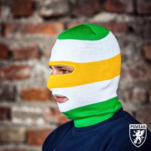 Kukla PGwear Balaclava Classic 27 - zelená-žlutá-bílá