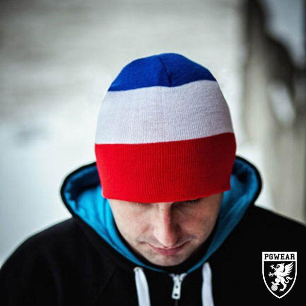 Čepice zimní PGwear Winter 11 - červená-modrá-bílá
