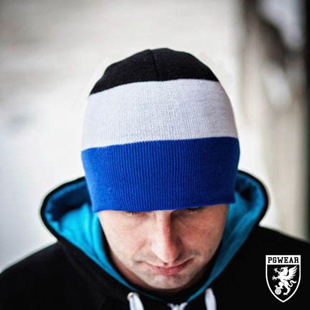 Čepice zimní PGwear Winter 13 - černá-modrá-bílá