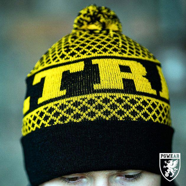 Čepice zimní PGwear Ultras SGS - černá-žlutá