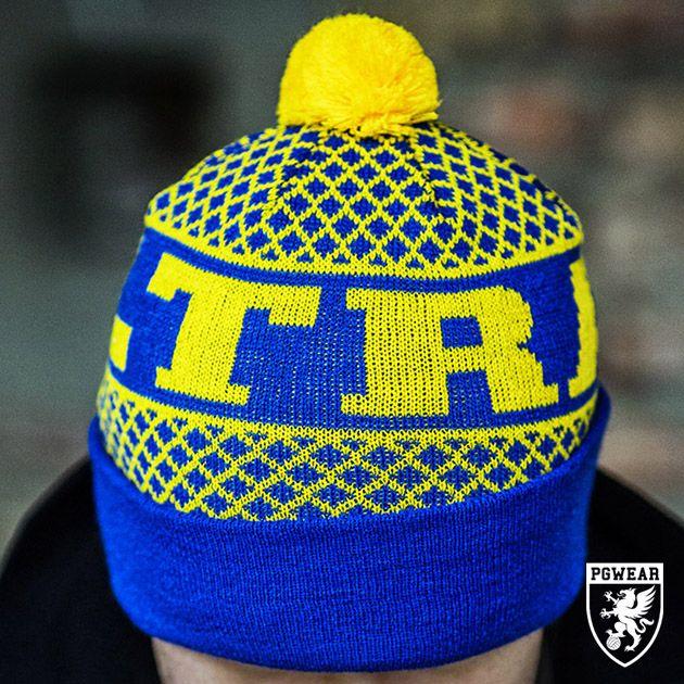 Čepice zimní PGwear Ultras BG - modrá-žlutá