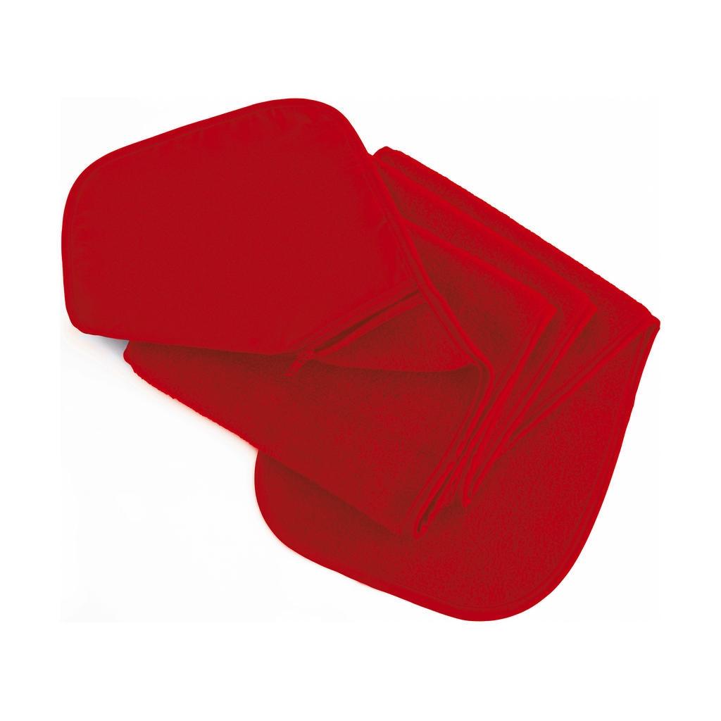 Fleecová šála s kapsou Result - červená