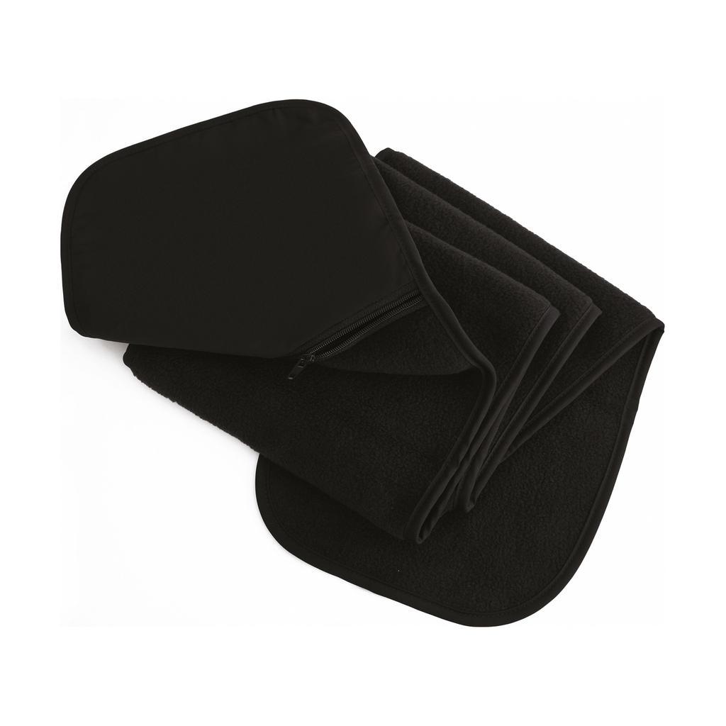 Fleecová šála s kapsou Result - černá