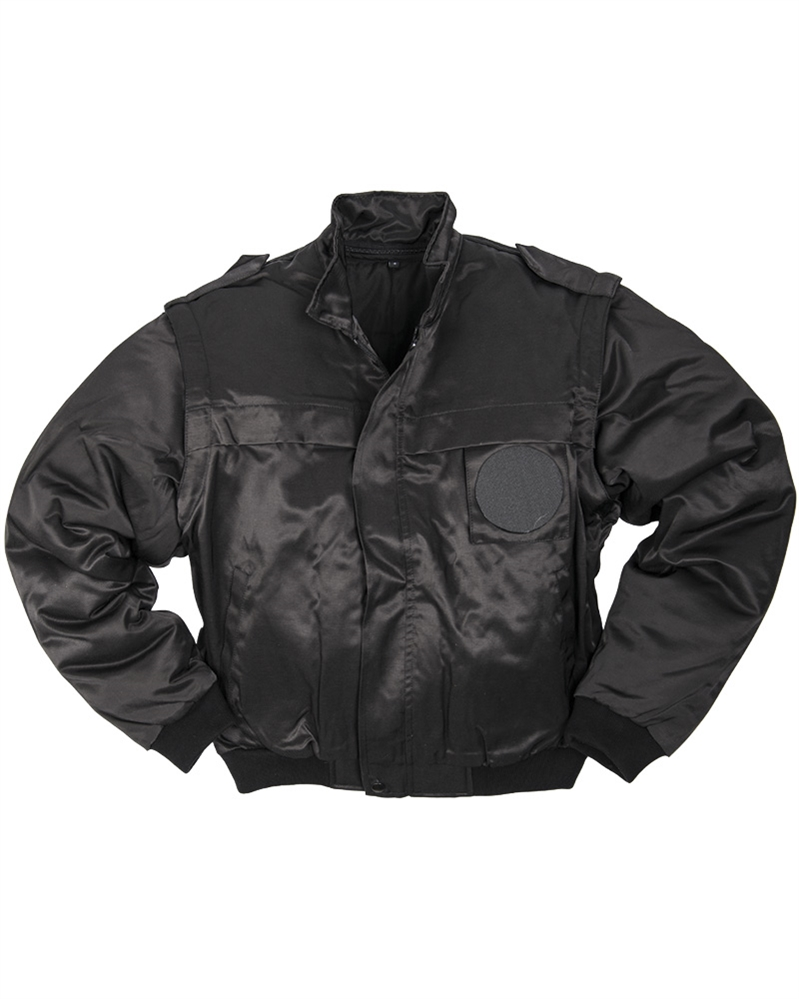 Bunda Mil-Tec Security s odepínacími rukávy - černá, XXL