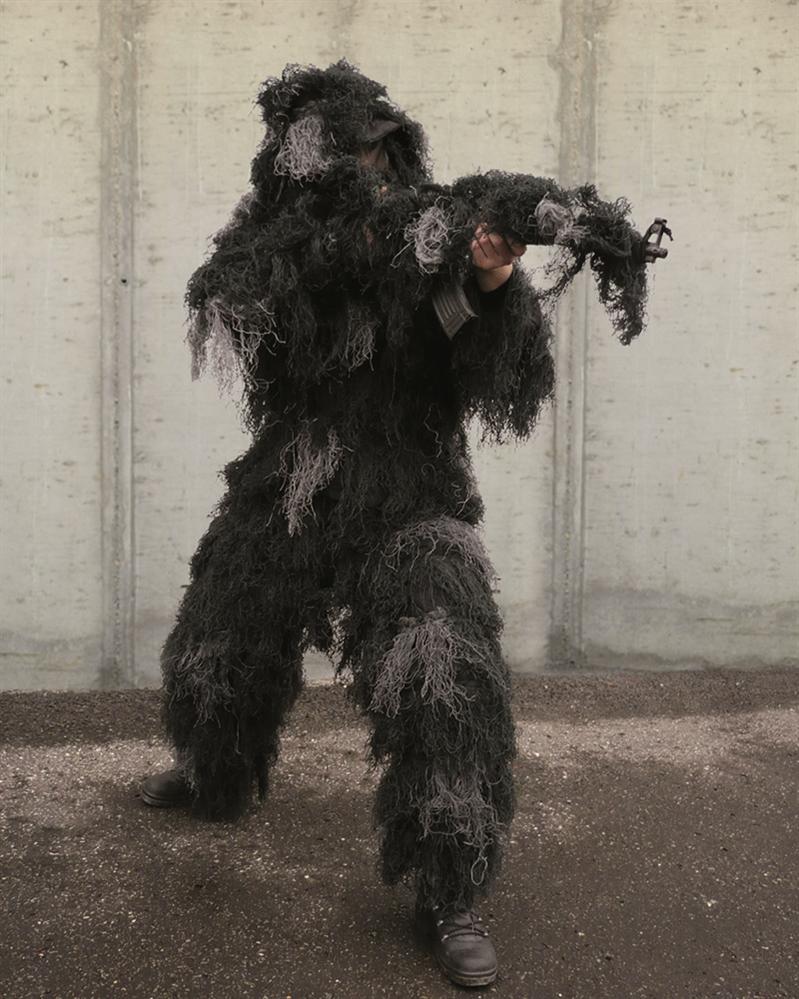 Maskovací oblek hejkal CamoSystems Anti Fire - nightcamo, M/L