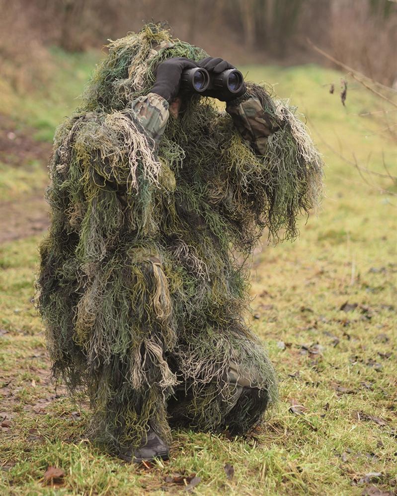 Maskovací komplet Mil-Tec Hejkal - woodland, XS/S