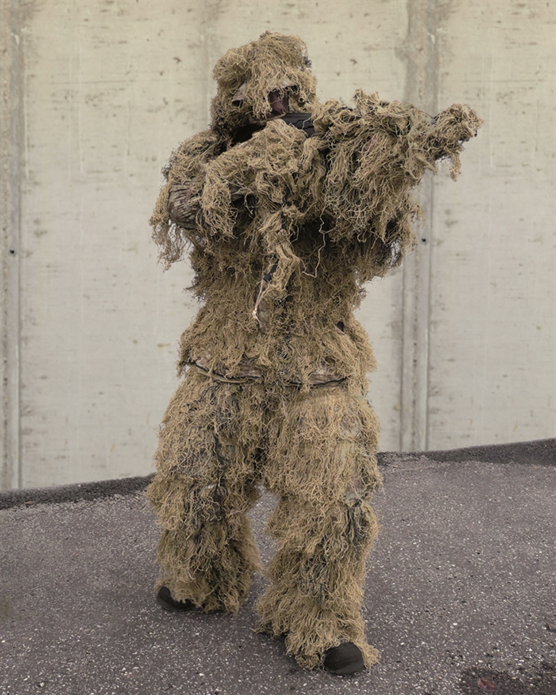 Maskovací oblek hejkal CamoSystems Anti Fire - desert, XL/XXL