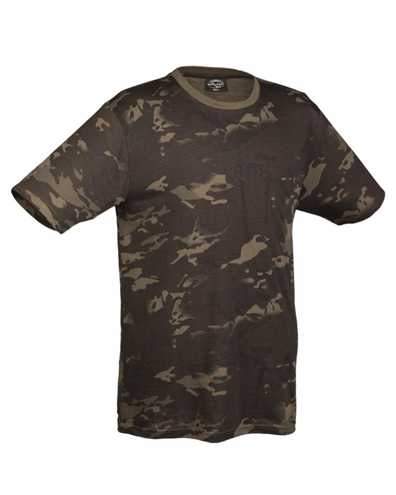 Maskáčové tričko dětské - multitarn black, S