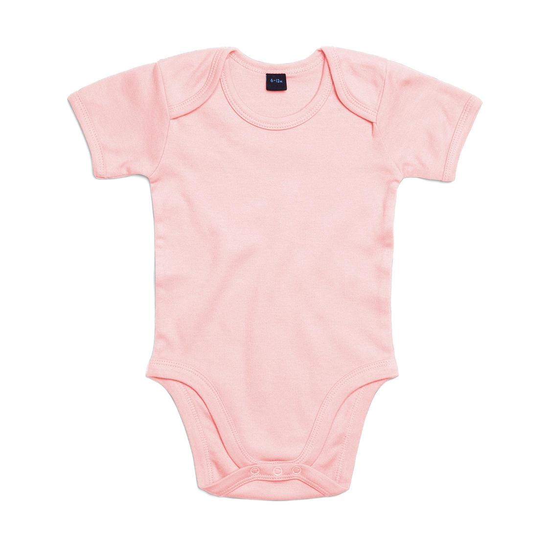 Dětské body Babybugz Organic Baby Short - světle růžové, 0-3 měsíců