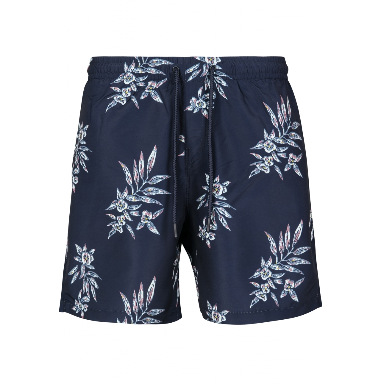 Plavky Urban Classics Pattern Floral - navy, XL