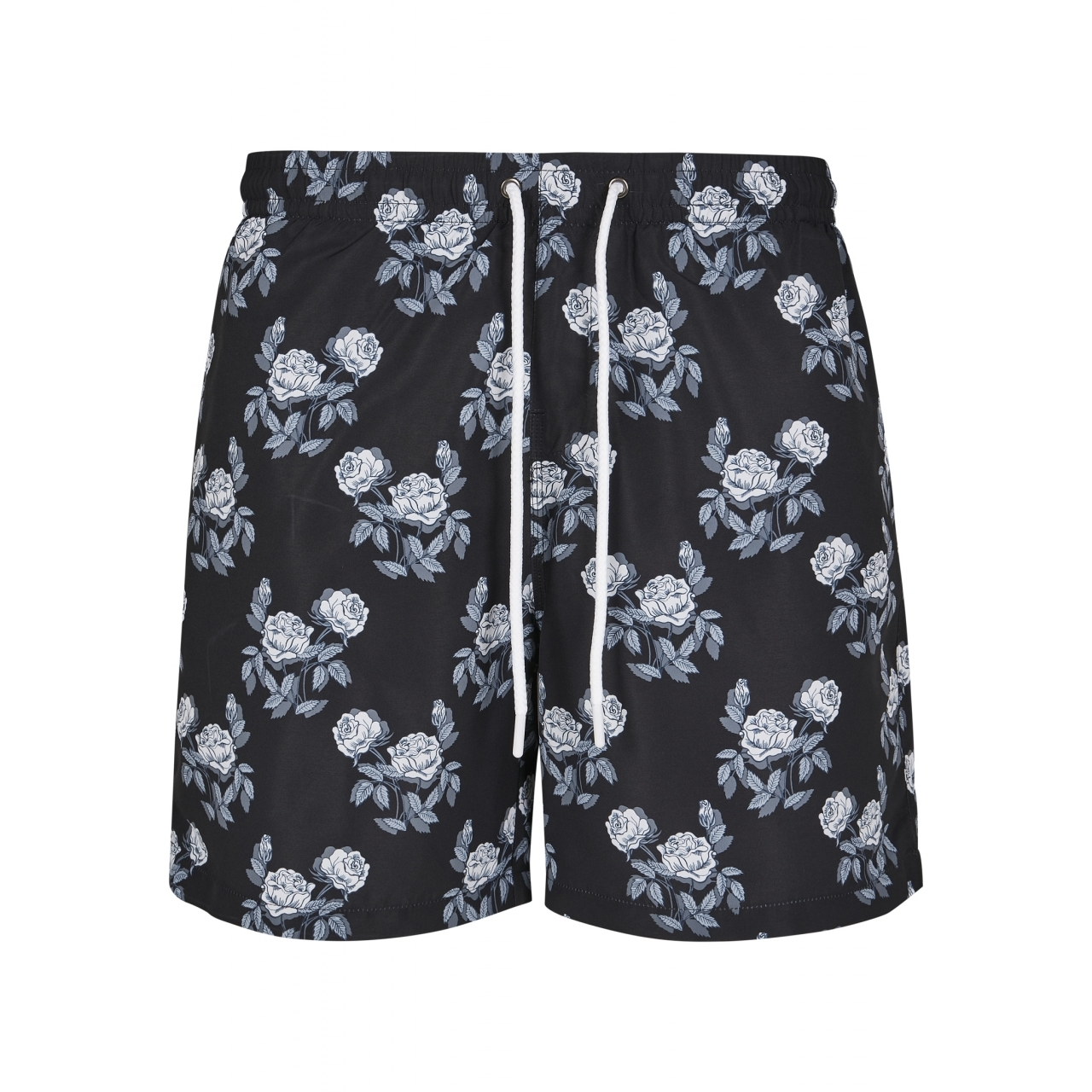 Plavky Urban Classics Pattern Rose - černé, XL