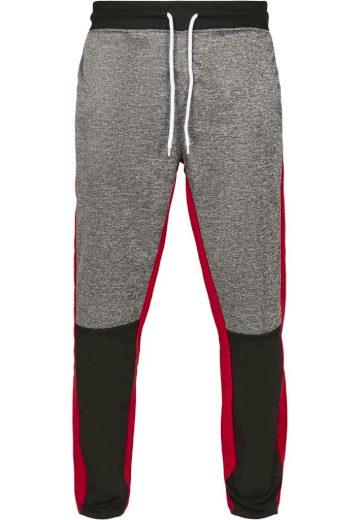 Kalhoty sportovní Southpole Color Block Marled - černé-červené, L