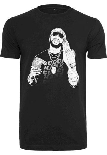 Triko Merchcode Gucci Mane Pinkies Up - černé, S