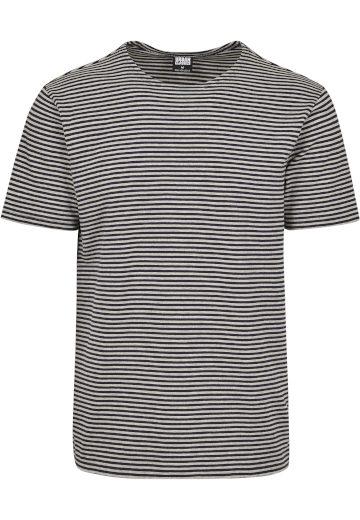 Triko Urban Classics Yarn Dyed Baby Stripe - šedé, XL