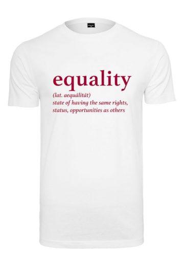 Triko Mister Tee Equality Definition - bílé, L