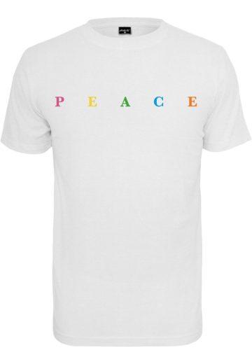 Triko Mister Tee PEACE - bílé, XS