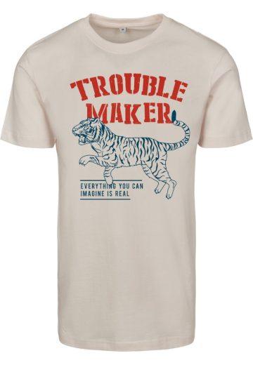 Triko dámské Mister Tee Troublemaker - béžové, M