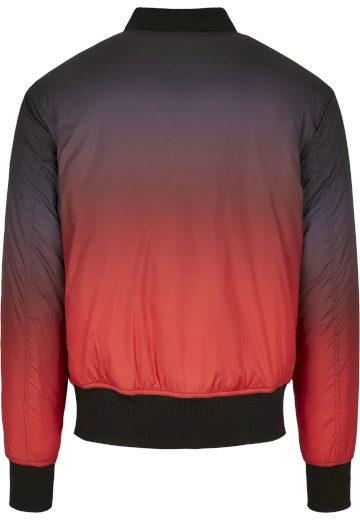 Bunda Urban Classics Gradient Bomber Jacket - červená-šedá, XL