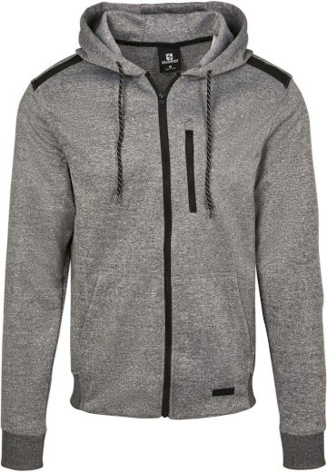 Mikina s kapucí Southpole Marled Tech Fleece - světle šedá, M