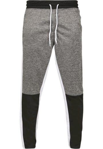 Kalhoty sportovní Southpole Color Block Marled - černé-bílé, S