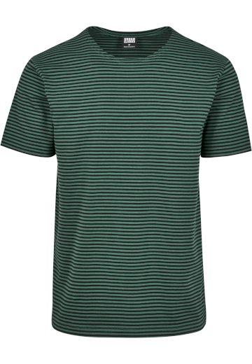 Triko Urban Classics Yarn Dyed Baby Stripe - zelené, M