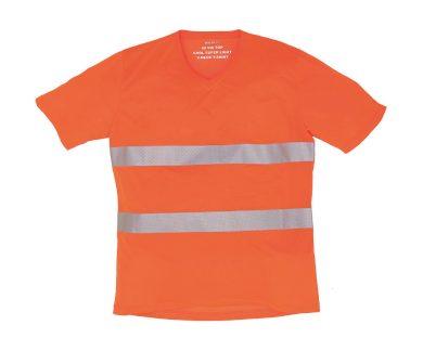 Tričko reflexní Yoko Fluo V - oranžové, L