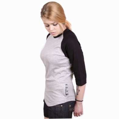 Tričko dámské Black Heart Raglan - šedé-černé, L