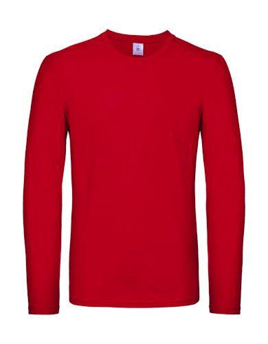 Triko s dlouhým rukávem B&C LSL - červené, 4XL