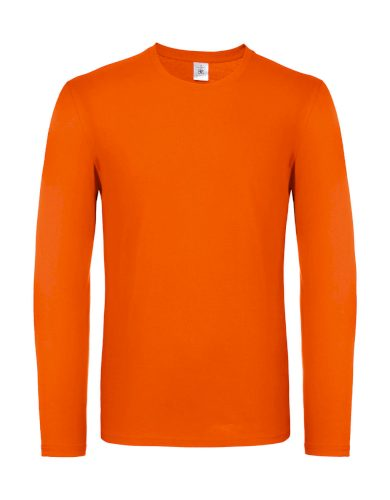Triko s dlouhým rukávem B&C LSL - oranžové, XXL