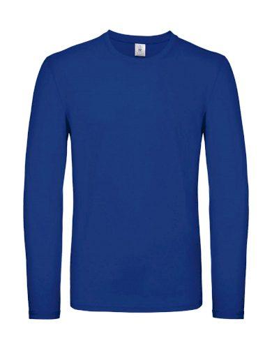 Triko s dlouhým rukávem B&C LSL - modré, 3XL