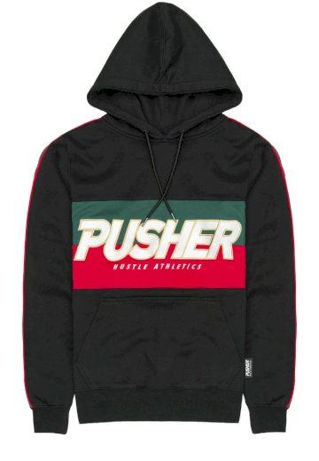 Mikina s kapucí Pusher Athletics Hustle Hoody - černé, S