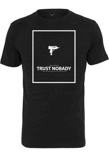 Triko Mister Tee Trust Nobady - černé, XXL