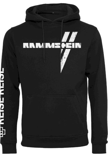 Mikina s kapucí Rammstein Weisses Kreuz - černá, XL