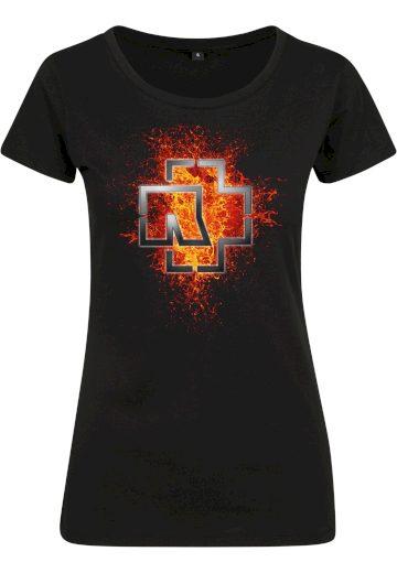 Triko dámské Rammstein Lava Logo Tee - černé, L