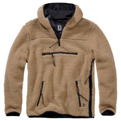 Bunda fleecová Brandit Teddyfleece Worker Pullover - béžová, L