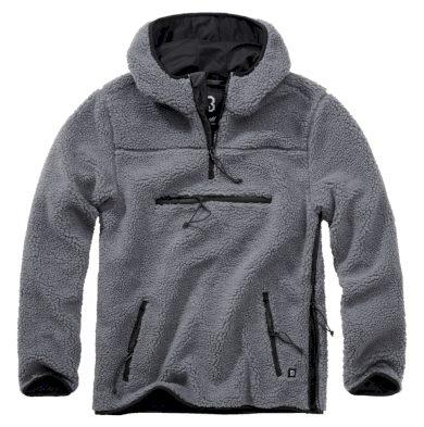Bunda fleecová Brandit Teddyfleece Worker Pullover - antracitová, XL