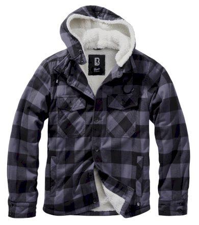 Bunda Brandit Lumberjacket Hooded - šedá, L