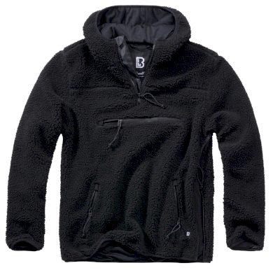 Bunda fleecová Brandit Teddyfleece Worker Pullover - černá, XL