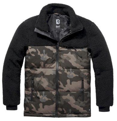Bunda Brandit Jackson Teddyfleece Jacket - černá-darkcamo, 4XL