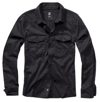 Košile Brandit Flanell Shirt - černá, 6XL