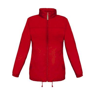 Dámská větrovka B&C Sirocco Women - červená, XL