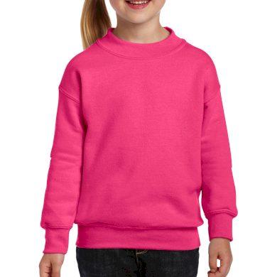 Mikina dětská Gildan Heavyweight - tmavě růžová, L