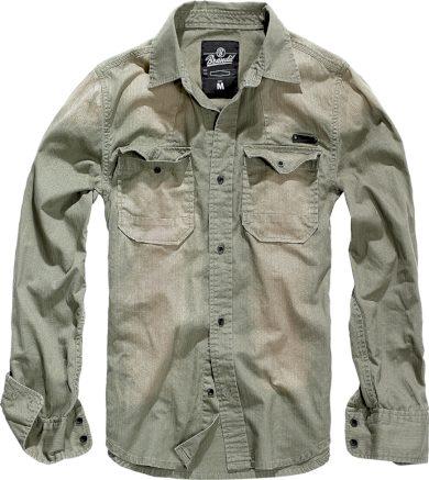 Košile Brandit Hardee - šedá, XL