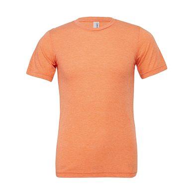 Tričko Bella Triblend Crew Men - oranžové, XXL