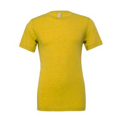 Tričko Bella Triblend Crew Men - žluté, XL