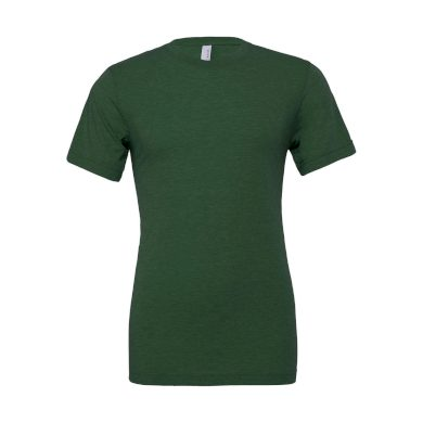 Tričko Bella Triblend Crew Men - tmavě zelené, L