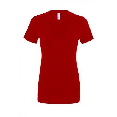 Tričko Bella Deep V-Neck Jersey - červené, S